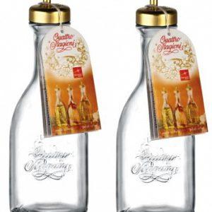 Набор 2-х бутылок с дозатором для масла и соуса 500 мл  Quattro Stagioni . Италия