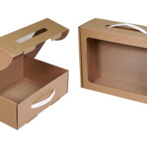 Коробка подарочная Крафт 250х185х085